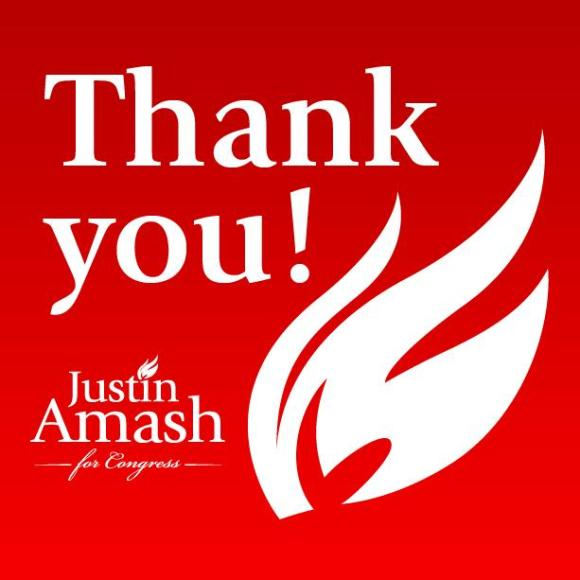 Justin Amash Thanks You!